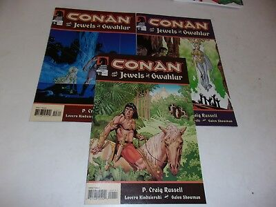 Conan-The Jewels of Gwahlur # 1-3--P Craig Russell writes and draws--2005--VF