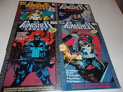 Punisher Armory # 1-4--Detailed inventory of Punisher`s arsenal--1990--VF+