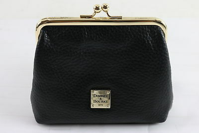 Dooney And Bourke Ladies Black Leather Mini Coin/Card Purse