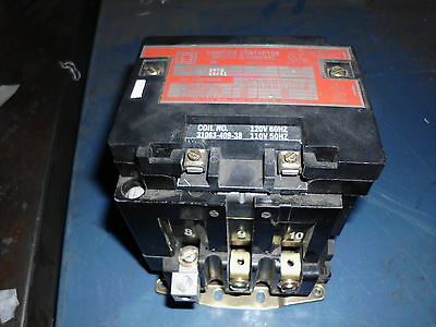 Square D Lighting Contactor, Ser. 8903, Type SP02, 120 V Coil, Used, WARRANTY