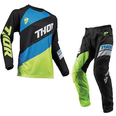 THOR Sector Shear Motocross Jersey Hose 2019 schwarz acid Enduro Offroad Sumo