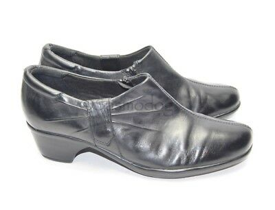 d02032a1ff0 WOMENS CLARKS EMSLIE Warren Black Leather Shoes Bootie Size 9 US ...