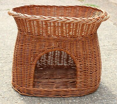 New - Cat Basket Two Tier Top Quality Handwoven FSC Wicker Chemical Free