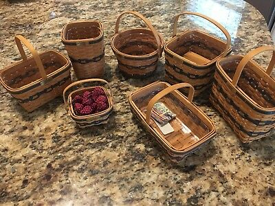 JW Longaberger Miniature Collection Baskets 1996-2002.
