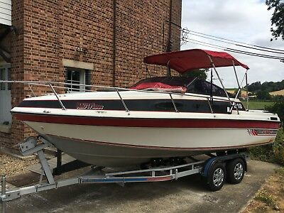 sunbird 218 speed boat/sports cruiser including  trailer winter project