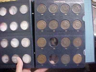 1826 - 1854 Large Cent Collection 25 Different Dates In Album Nice Set
