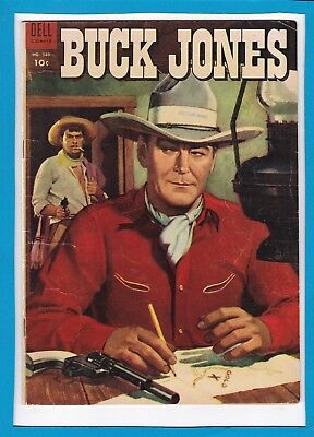 Buck Jones #589_October 1954_F/vf_Golden Age Dell Four-Colour Western Adventure!