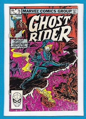 "Ghost Rider #76_January 1983_Very Good_""half A Demon, Half A Man""_Bronze Age!"