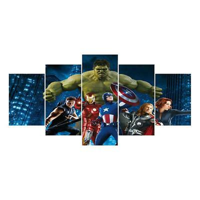 """5x Combinated 5D DIY Full Drill Diamond Painting Mosaic """"Marvel's The Avengers"""""""
