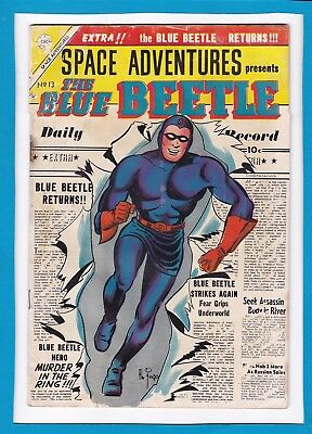 Space Adventures #13_Oct-Nov 1954_Good/very Good_The Blue Beetle_Charlton!