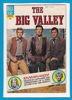 The Big Valley #4_Apr 1967_Very Good+_Silver Age Dell Comics_Western Adventure!