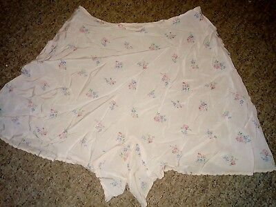 """Vintage WWII Utility CC41 pink Satin floral French Knickers 28"""" Waist 1940s"""