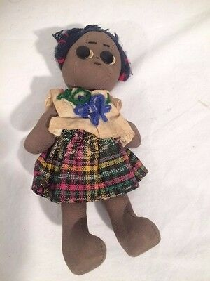 Vintage Black Americana Cloth Rag Doll     A101