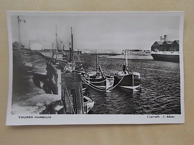 Vintage Postcard - Thurso Harbour - Scotland  Rp