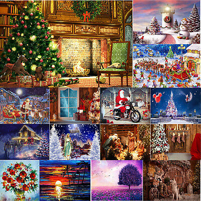 5D DIY Full Drill Diamond Painting Christmas Style Cross Stitch Embroidery Kits