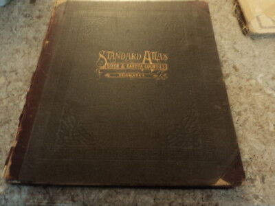Standard Atlas Dakota & Dixon Counties Nebraska 1911