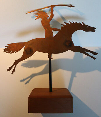 Copper Indian on Horse Weathervane