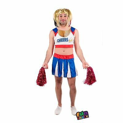 Adult Mens Male High School Cheerleader Comedy Fancy Dress Costume Stag Night