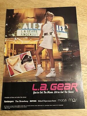 L.A. GEAR SNEAKERS Ad  - Vintage 1986 Magazine Ad Clipping