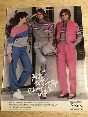CHERYL TIEGS COLLECTION at SEARS Ad - Vintage 1982 Magazine Ad Clipping