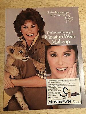 STEPHANIE POWERS for COVER GIRL - Vintage 1983 Magazine Ad Clipping