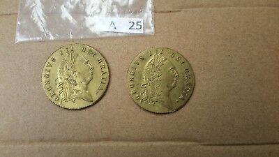 Two 1768 Gaming Token In Memory Of The Good Old Days George III