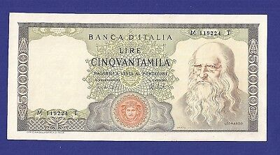Superbe 50.000 Lire 1974 Banknote From Italy