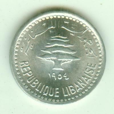 Lebanon Uncirculated 1954 5 Piastres-Lot Z2