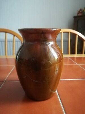 Ewenny Pottery Vase. Unusual colour. Very thick glaze.