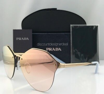 f79bec2b09cd Prada Sunglasses PR 64TS Authentic Brand New Gold   Pink Mirror 7OEAD2 66mm