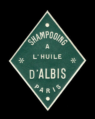 Vintage French Perfume/Beauty Label: Antique Original Early 1900's Shampooing