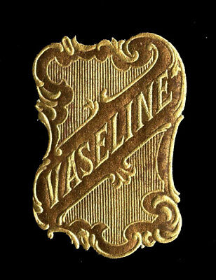 Vintage French Perfume/Beauty Label: Antique Original Early 1900's Embossed