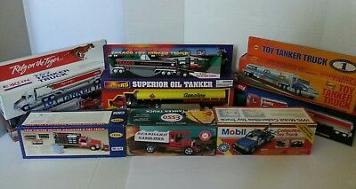 collectable toy tanker tow and supply truck lot. Sunoco Exxon Getty Mobil Texaco