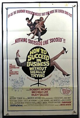 SUCCEED WITHOUT TRYING Movie Poster (Good) One Sheet 1967 Robert Morse 1337