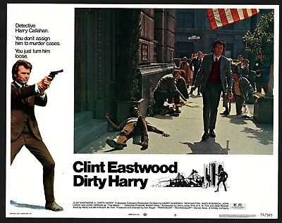 DIRTY HARRY Lobby Card (VeryFine) 1971 Clint Eastwood Movie Poster Art 15216