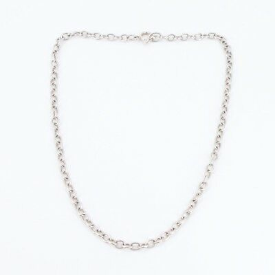 """VTG .950 Silver - 5mm Cable Chain Link 20.25"""" Necklace - 25g"""