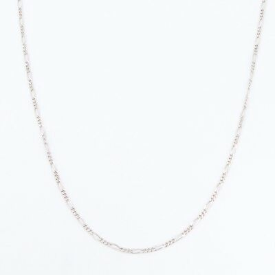 """Sterling Silver - 3mm Figaro Chain Link 29.75"""" Necklace - 11g"""