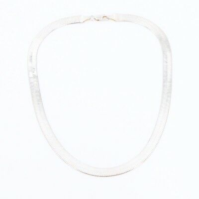 """Sterling Silver - 8mm Herringbone Chain Link 18"""" Necklace - 25.5g"""
