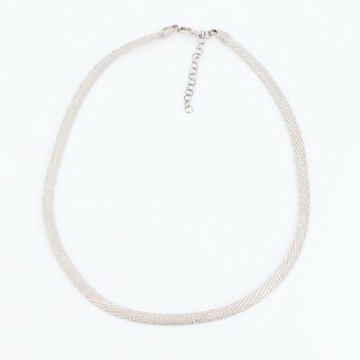 """Sterling Silver - ITALY 5mm Mesh Chain Link 17"""" Necklace - 9.6g"""