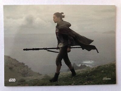 2018 San Diego Comic Con Exclusive Topps Star Wars Force Awakens Rey Promo Card