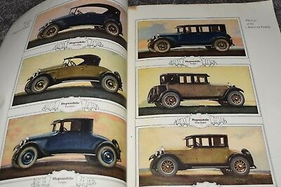 antique 1925 AUTOMOBILE CATALOG pierce arrow hupmobile stutz studebaker hudson