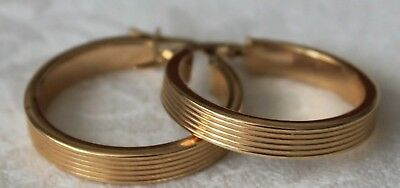 14k 14 kt Italy Solid Yellow Gold Hoop Earrings Scrap or Wear 2.2 Grams