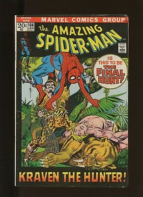 Amazing Spider-Man 104 VG+ 4.5 * 1 Book * 1972,Marvel!  Beauty And The Brute!