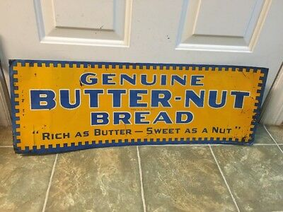 Rare Butter Nut Bread Advertising Sign
