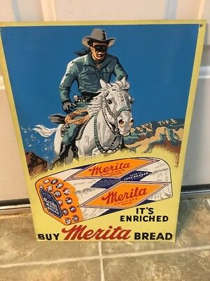 Merita Bread Advertising Sign Lone Ranger