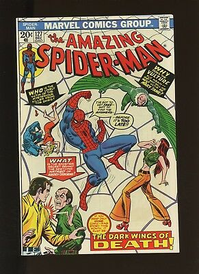 Amazing Spider-Man 127 VF/NM 9.0 * 1 Book Lot * 1973,Marvel! 1st Vulture(Cliff)