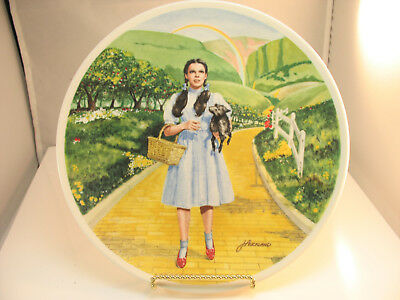 1977 Knowles Plate Wizardof Oz Collection Over The Rainbow W/ Dorothy & Toto