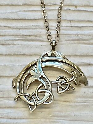 Declan Killen Sterling Silver Salmon Of Knowledge Celtic Fish Pendent