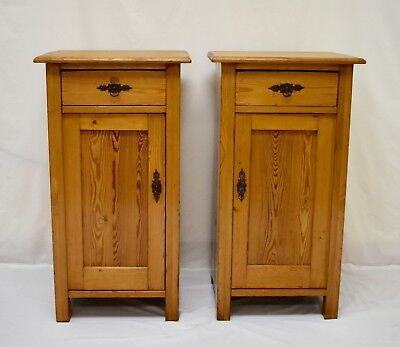 Pair of Antique Pine Nightstands