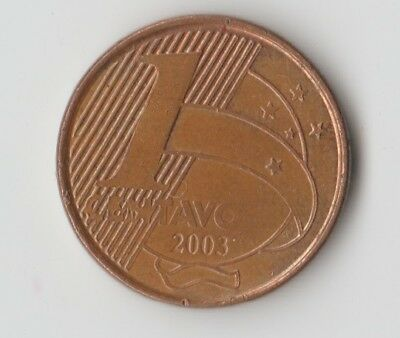 Rare Coin 1 Centavo 2003 Brazil Circulated South America World Coins Lot